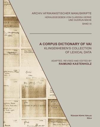 A Corpus Dictionary of Vai