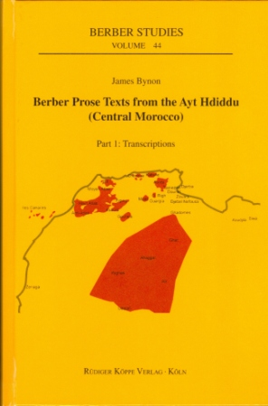 Berber Prose Texts from the Ayt Hdiddu (Central Morocco)