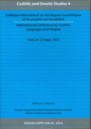 Colloque international sur les langues couchitiques et les peuples qui les parlent –  International Conference on Cushitic Languages and Peoples