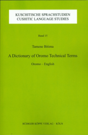 A Dictionary of Oromo Technical Terms