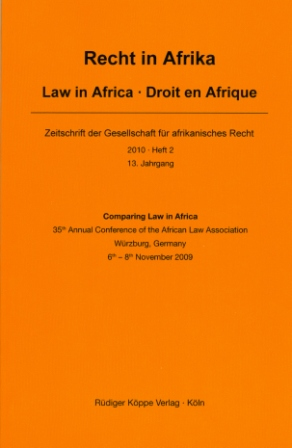 Comparing Law in Africa
