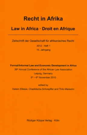 Formal / Informal Law and Economic Development in Africa