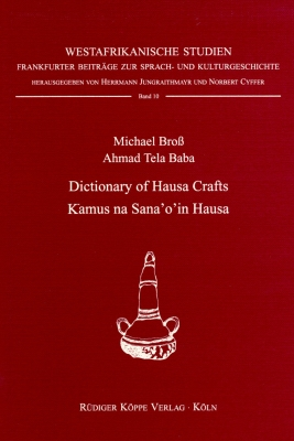 Dictionary of Hausa Crafts / Kamus na Sana'o'in Hausa
