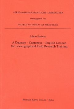A Dagaare-Cantonese-English Lexicon for Lexicographical Field Research Training