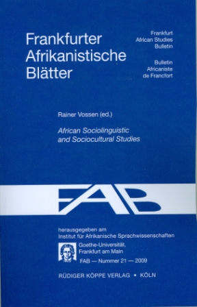 African Sociolinguistic and Sociocultural Studies