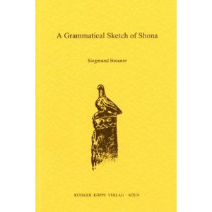A Grammatical Sketch of Shona