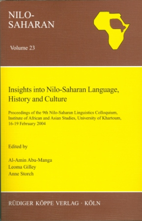 Insights into Nilo-Saharan Language, History and Culture