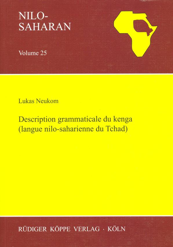 Description grammaticale du kenga (langue nilo-saharienne du Tchad)