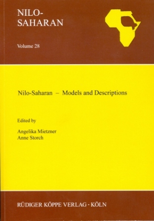 Nilo-Saharan – Models and Descriptions