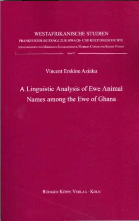 A Linguistic Study of Ewe Animal Names among the Ewe of Ghana